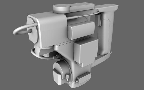 3d sci-fi motion tracker prop model