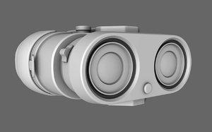 binocular prop 3d model