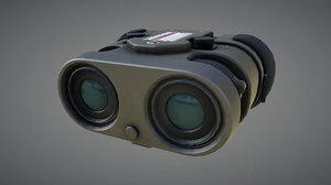 3d model binocular prop pbr