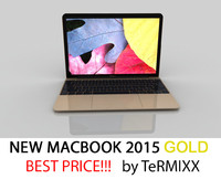 3d new macbook 2015 gold