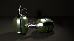 rgd-5 hand grenade 3d model