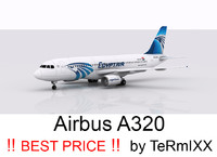 airbus a320 egyptair 3d model