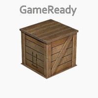 3d low-poly wood model