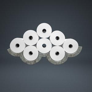 toilet paper 3d max