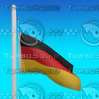 flag germany - loop 3d max
