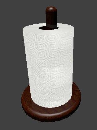 paper towel holder 3d model