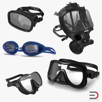 scuba masks 4 3d max