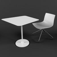 3d model ligne roset table chair