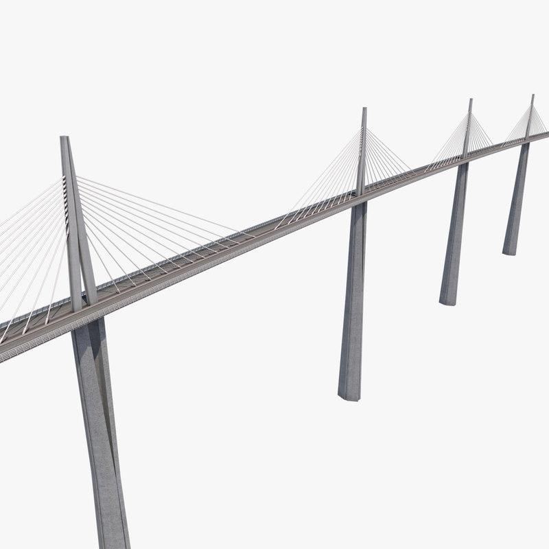 3d millau viaduct bridge