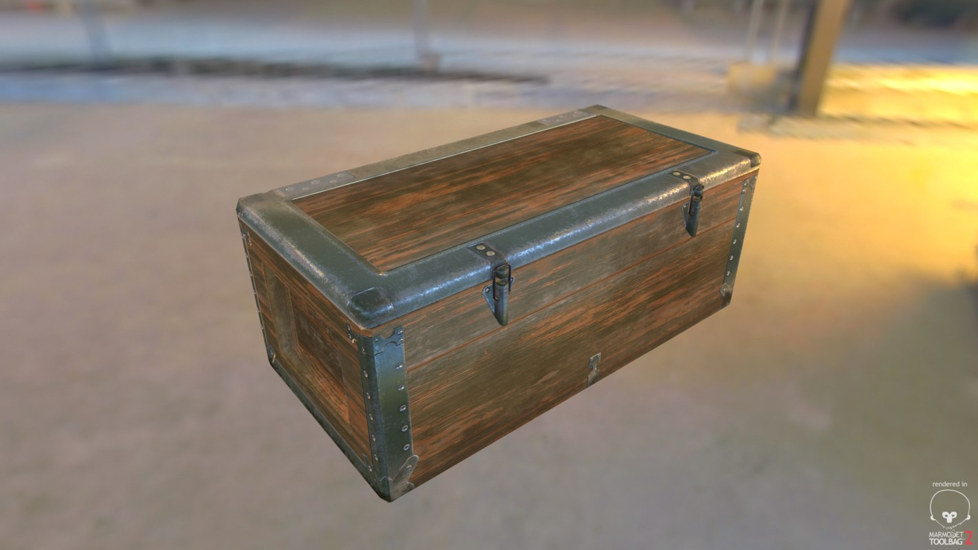 3d model weapon box