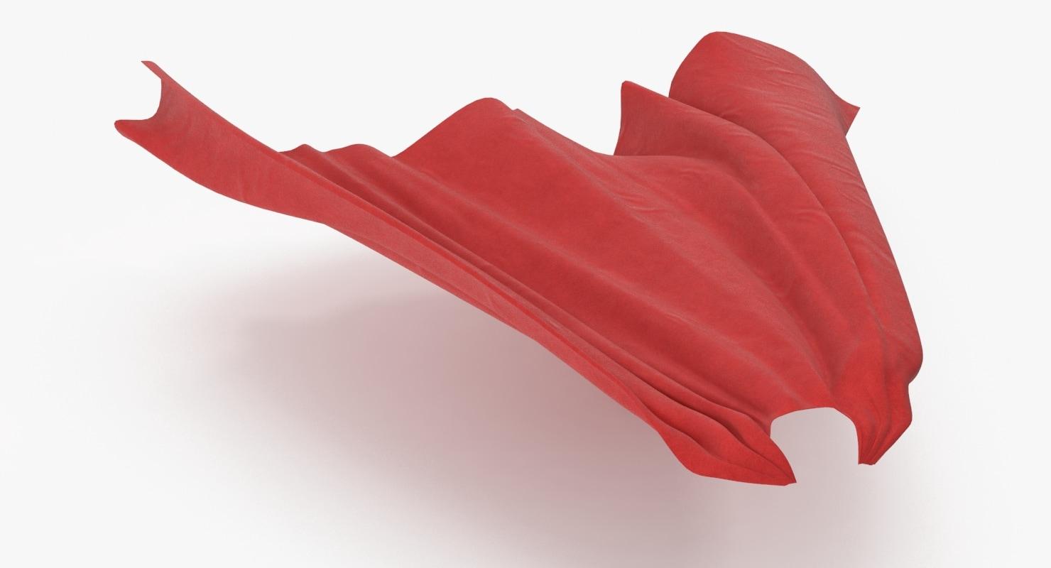 superman cape flying 3d model