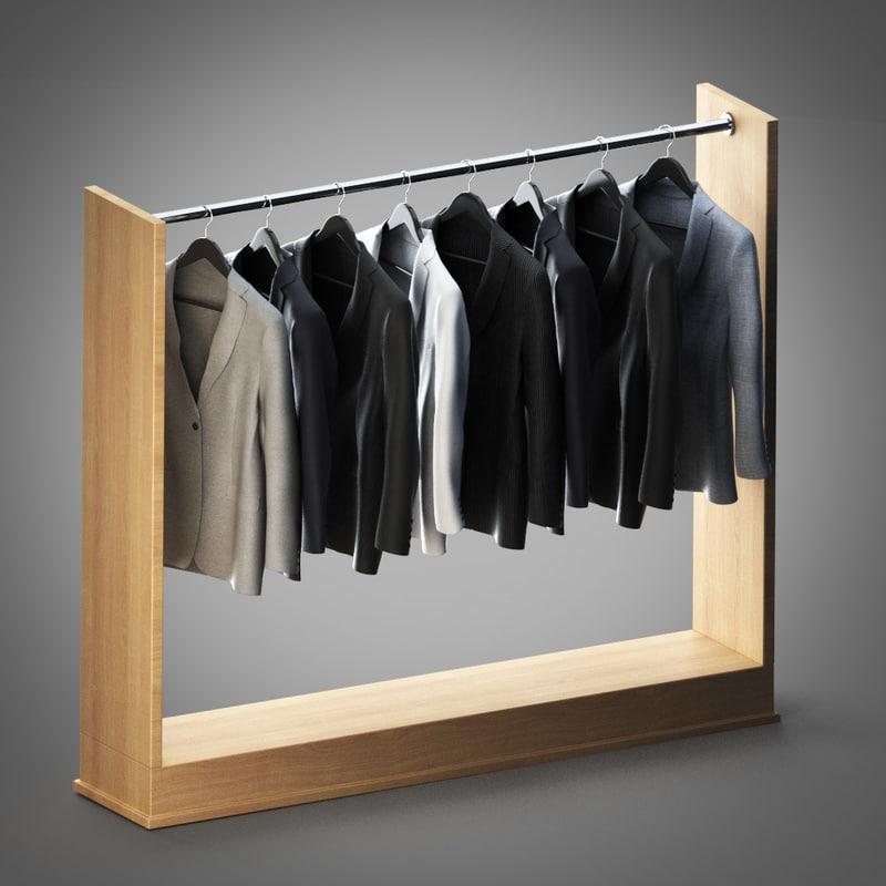 3d model jackets hanger