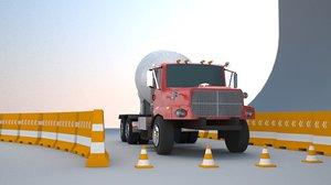3d cement truck model