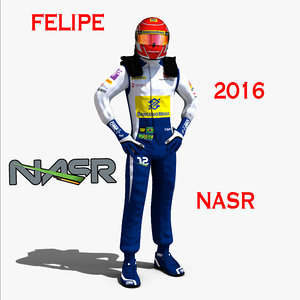 felipe nasr 2016 3d model