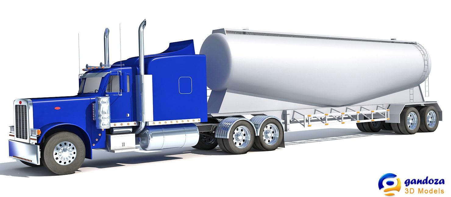 3d american tanker truck model