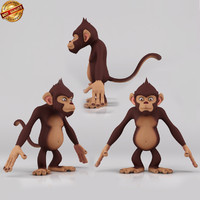3d cartoon monkey monk