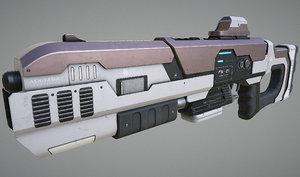 laser rifle pbr 3d model