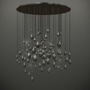 3d raindrop luum raining light model