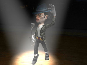 3d model unity singer character