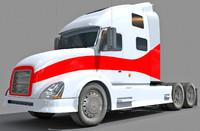 semi truck 3d model