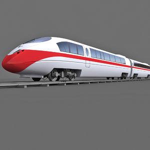 3d train passenger model