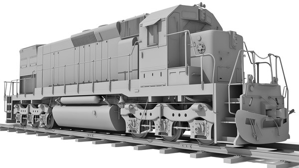 train railway 3d model