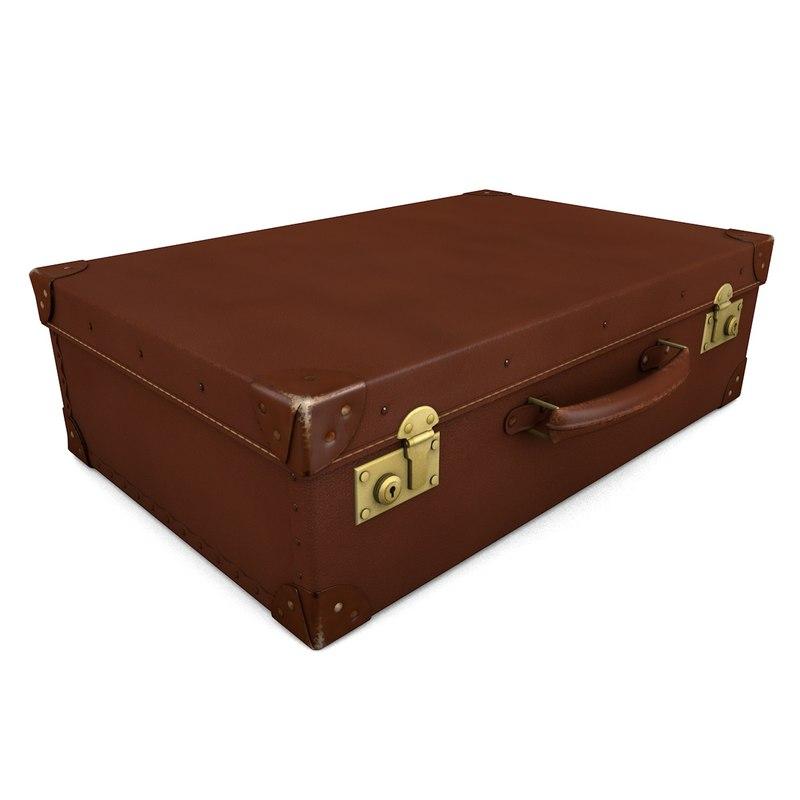 3d model 1920s suitcase