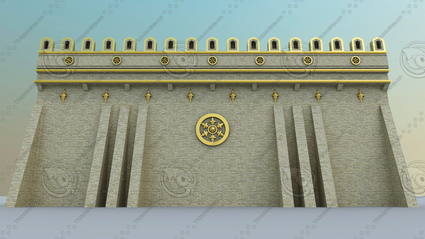 3d wall golden white