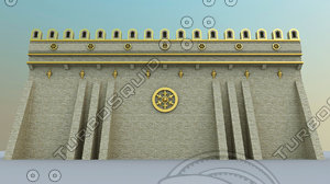 3d wall golden white