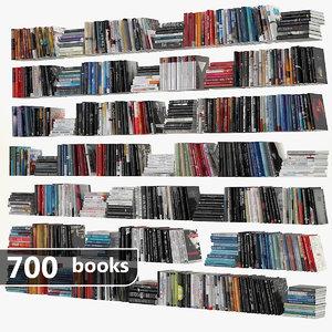 3d book set model