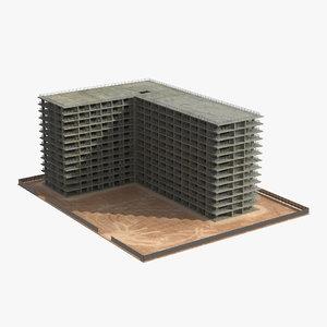 building construction 4 3d model