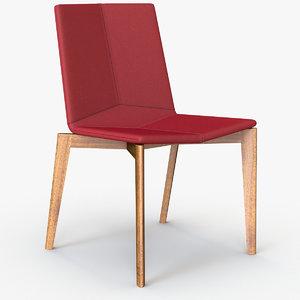 max davis rhombus armless chair