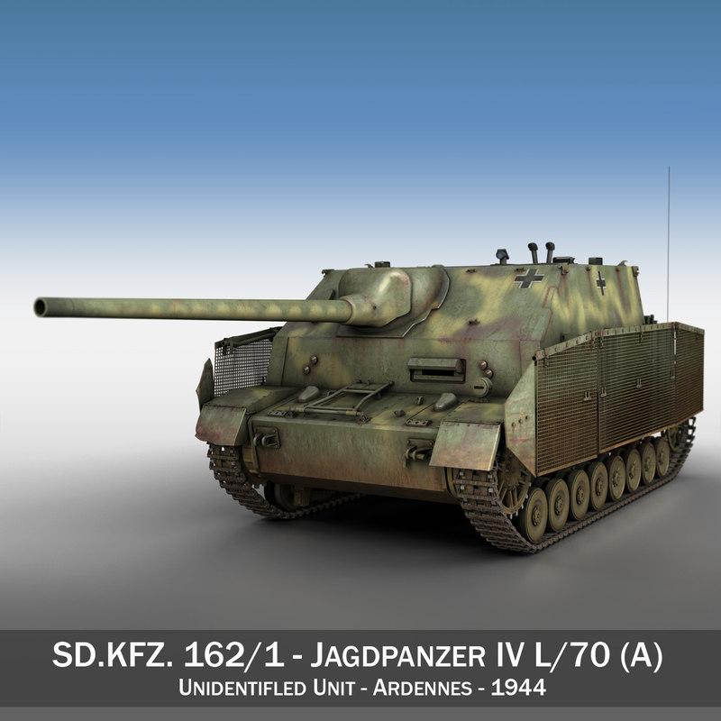 3d model jagdpanzer iv l 70