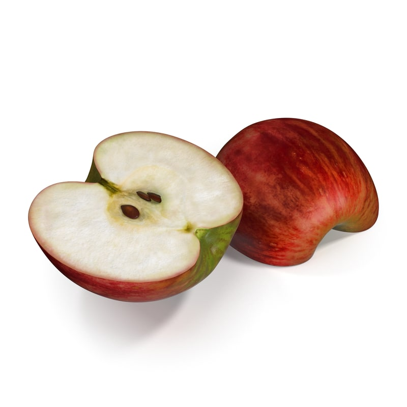 max red apple cut half