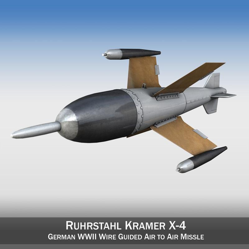 3d german 2 missle -
