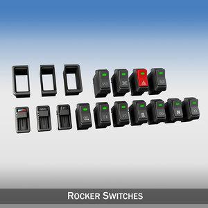 3d rocker switches vehilce model
