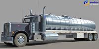 tanker truck 3d model