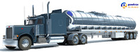 3d model tanker truck