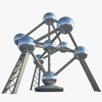 3d model of atomium atom