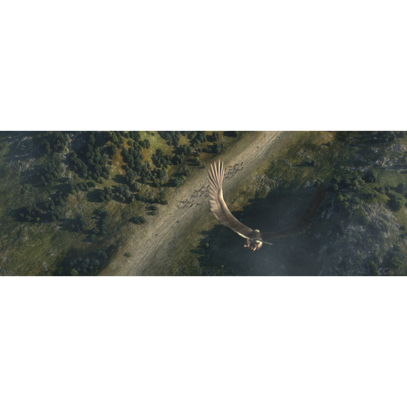 ancient mountain road 3d max