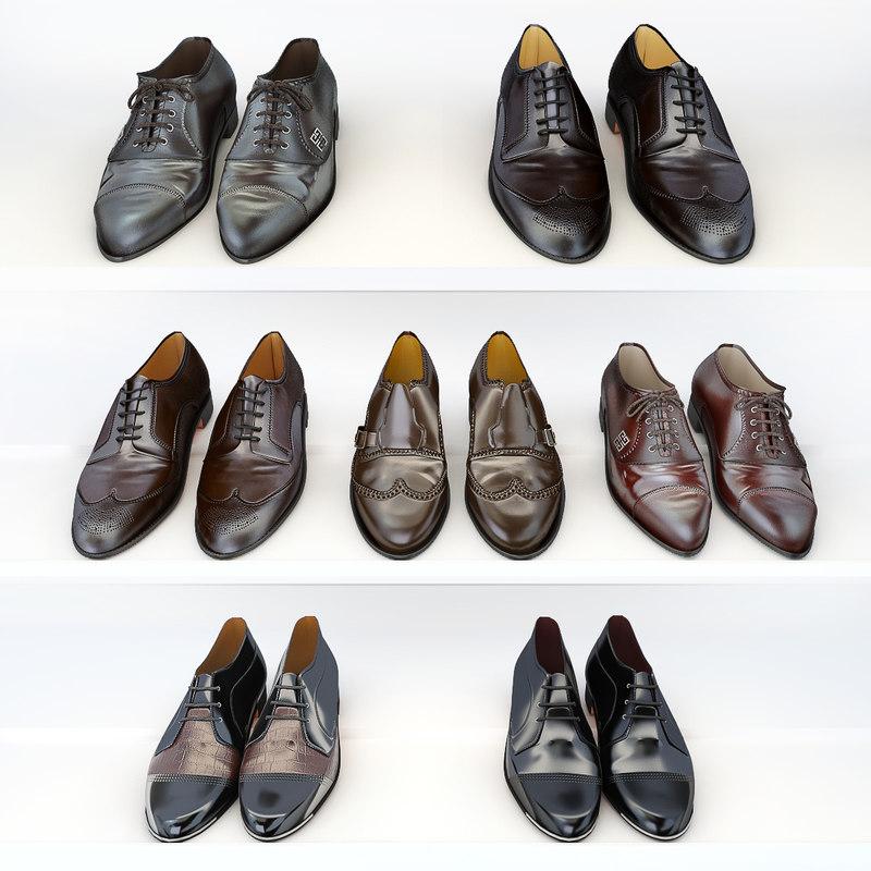 3d 7 pairs shoes