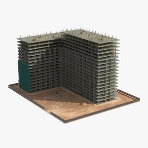 building construction 3 3d obj