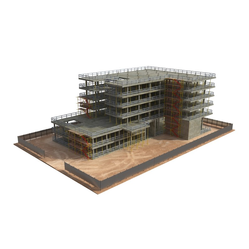 3d building construction model