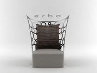 erba - icona chair 3d max