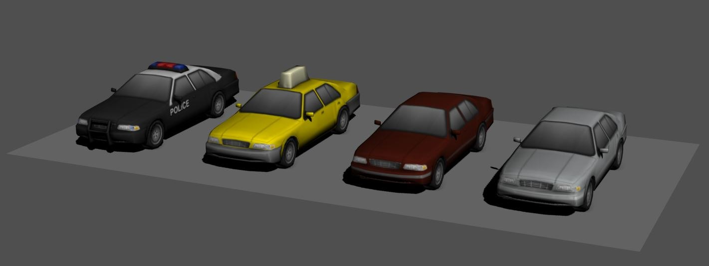 city car pack 3d model