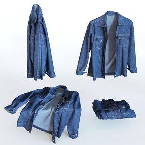 3d jeans jacket model