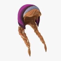 anna wig 3d model