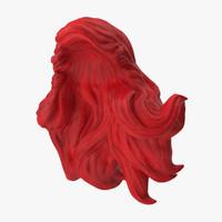 3d model ariel wig