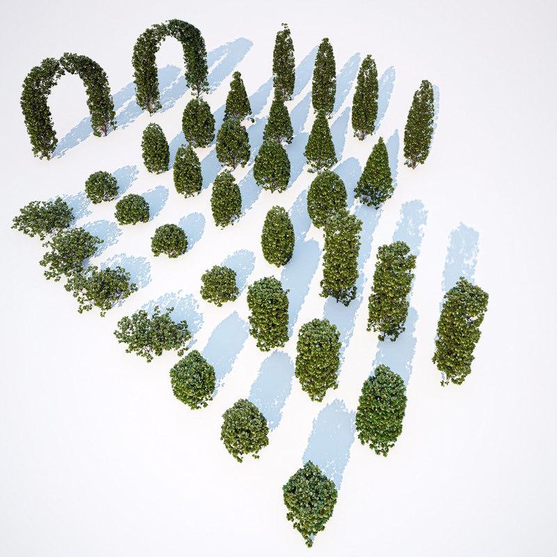 3d generic formed hedge model