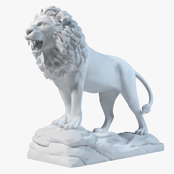 lion statue sculpture 3d ma